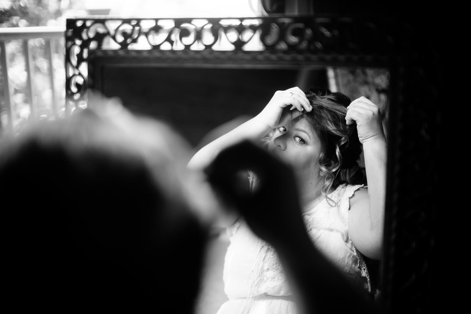 bride getting ready wv wedding