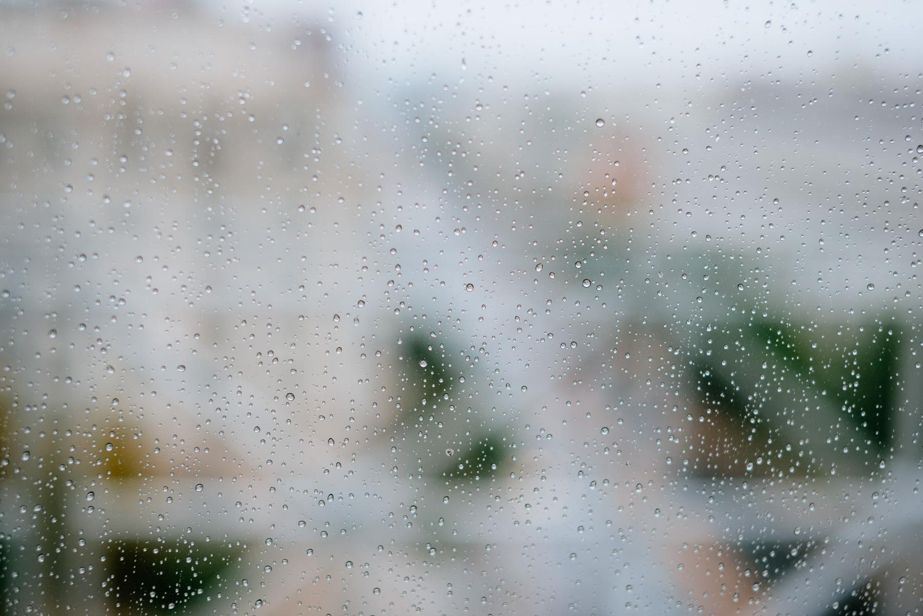 rain on a window pane