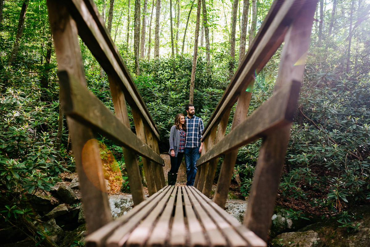 west virginia hiking engagement session