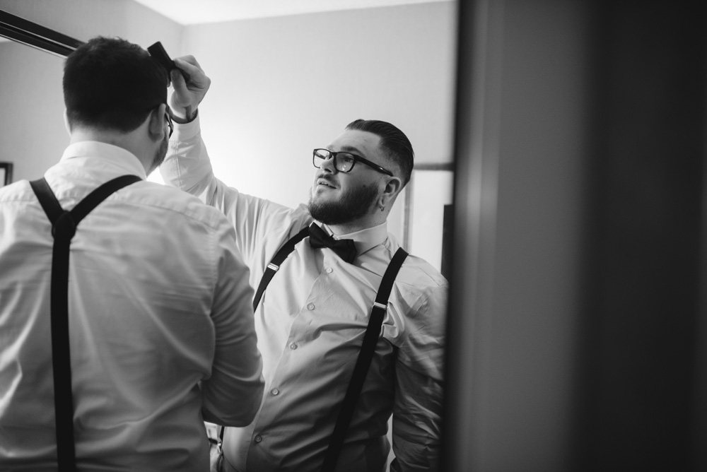 groomsmen getting ready wv wedding