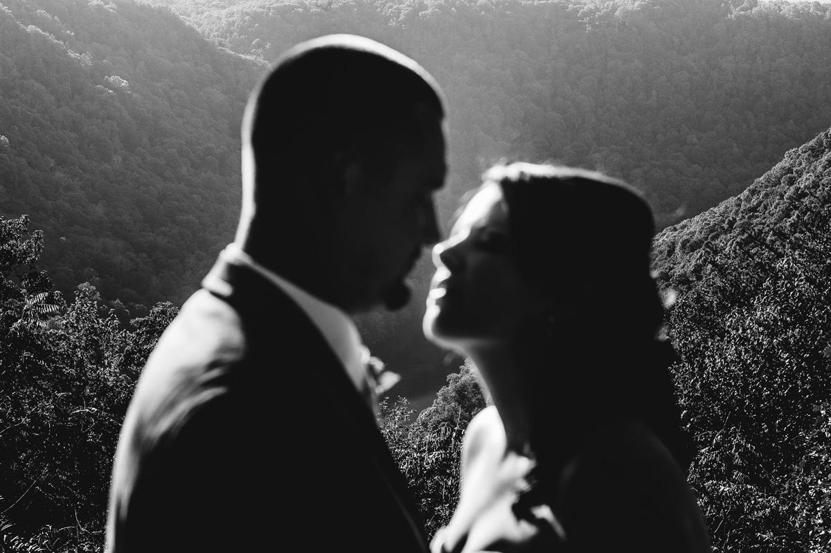adventures on the gorge creative wedding portrait fayetteville west virginia