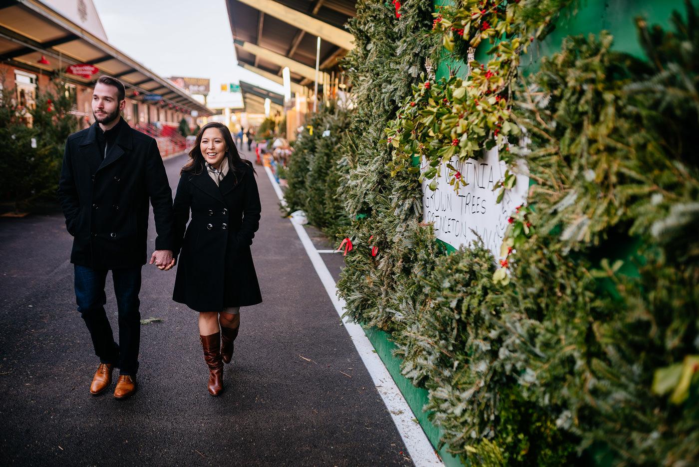 capitol market charleston wv christmastime engagement photos