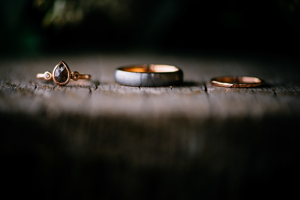 wedding details ring shot rosegold