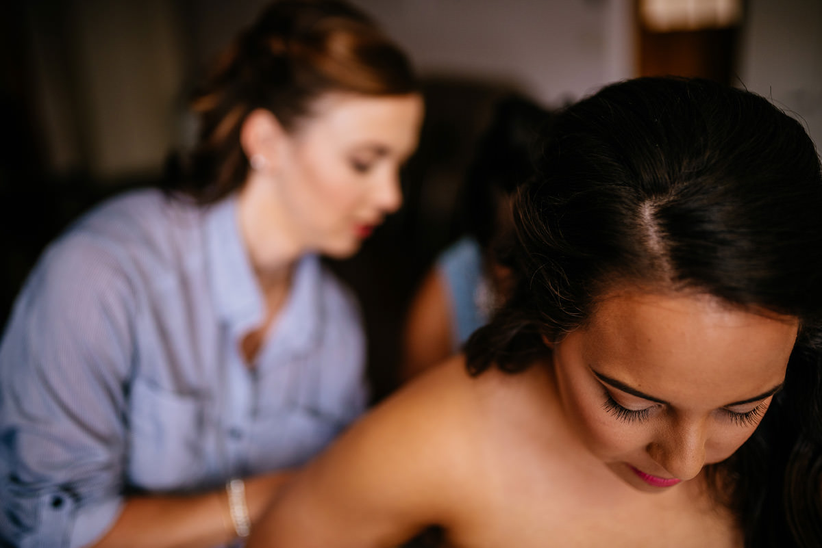 bride getting ready charleston wv