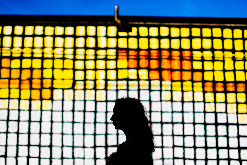 colorful silhouette creative senior photography by the oberports