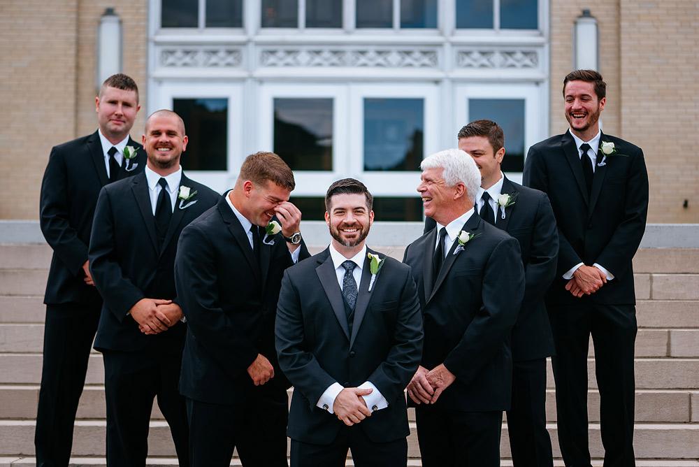 university of charleston UC wedding wv groomsmen picture