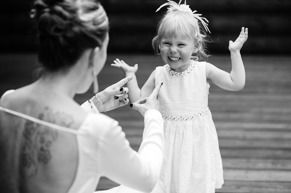 adorable little girl at wedding