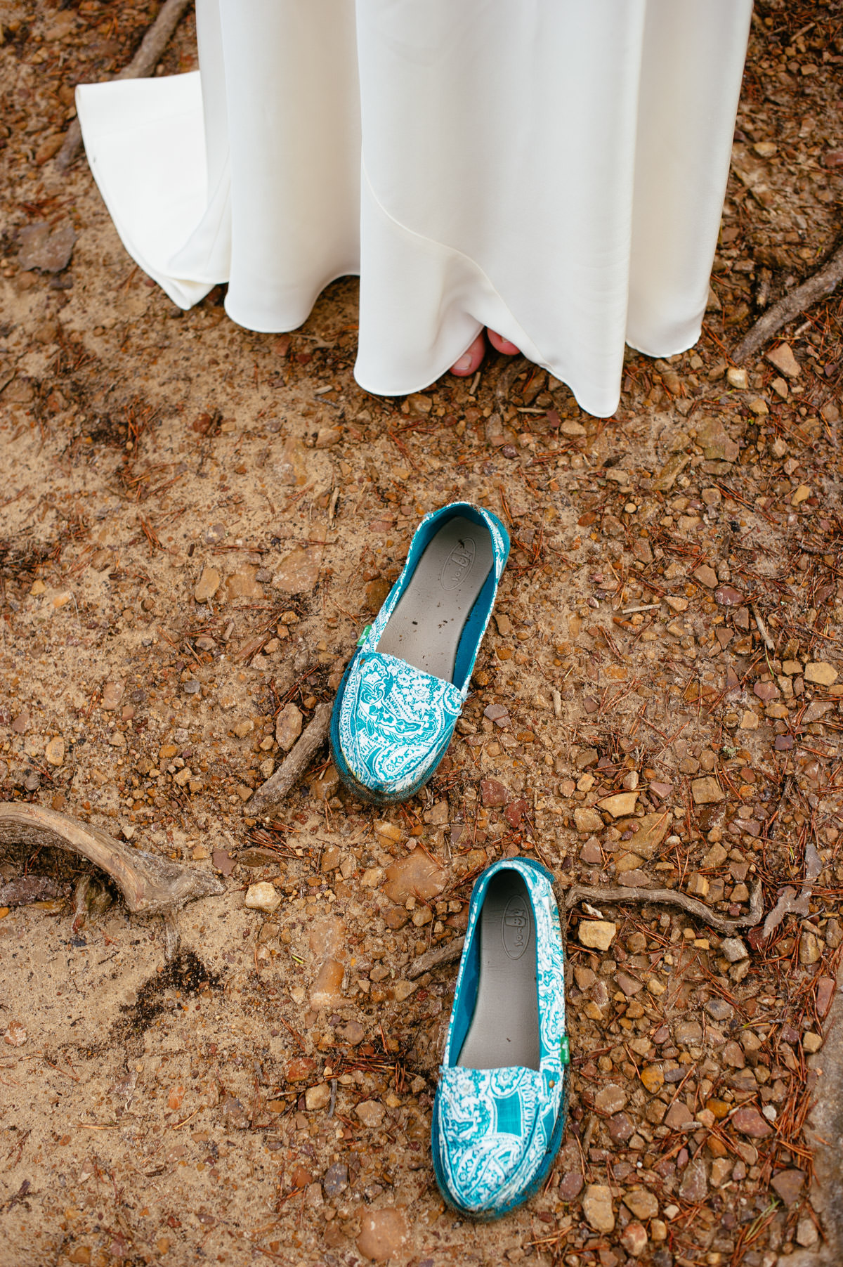 brides shoes outdoor nature wedding fayetteville west virginia wv
