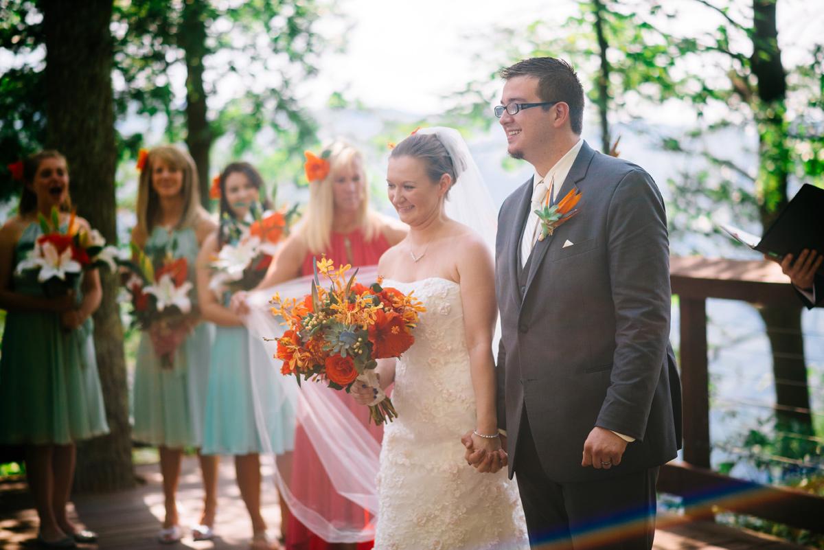 smokeys on the gorge wedding ceremony