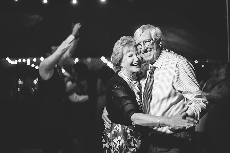 older couple dancing at wedding reception
