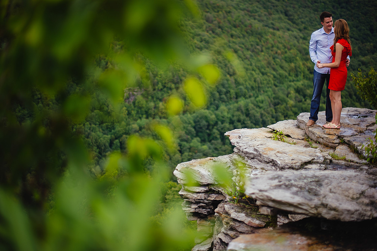 proposal portraits at blackwater falls lindy point overlook