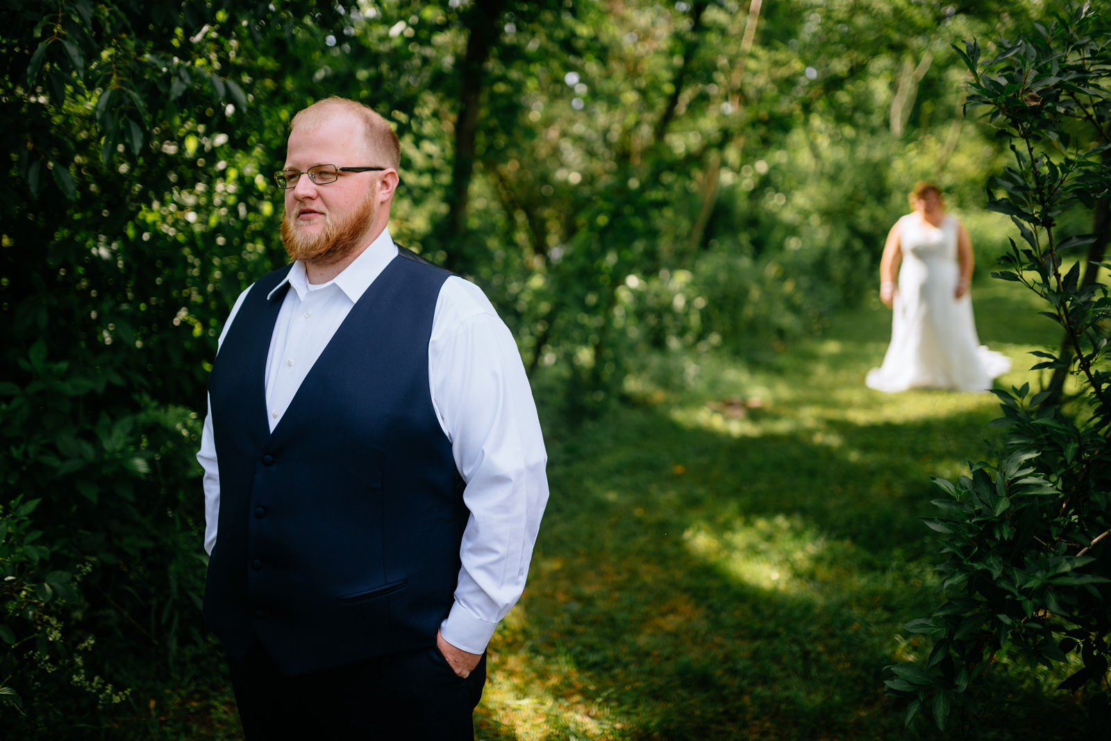 first look nature wv wedding moments