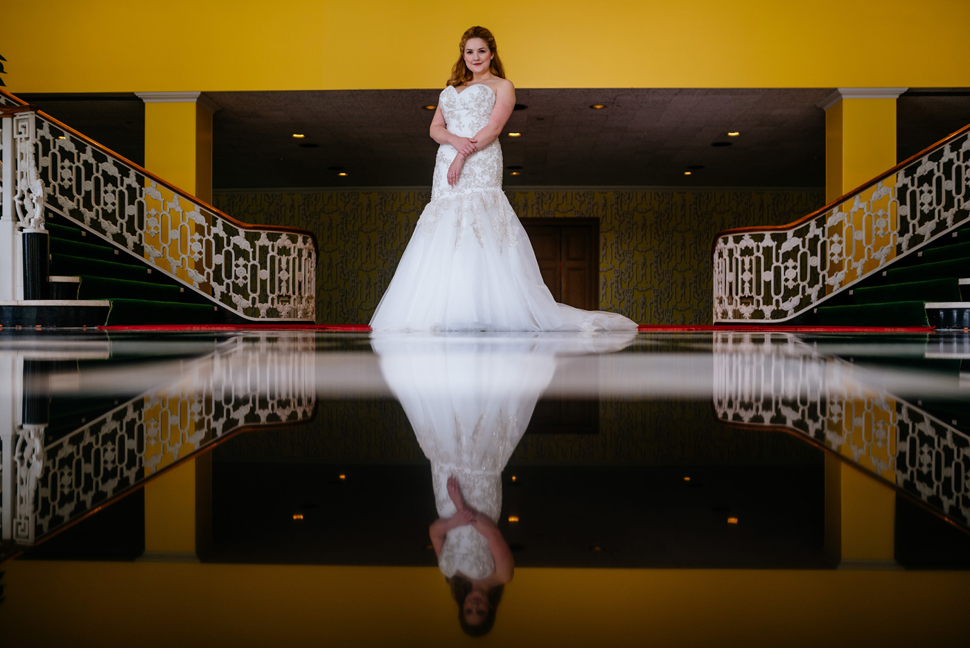 gorgeous bridal pictures at west virginia greenbrier resort