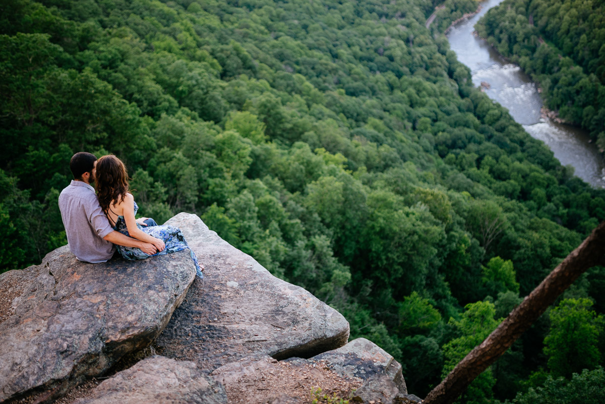 wv engagement session endless wall overlook