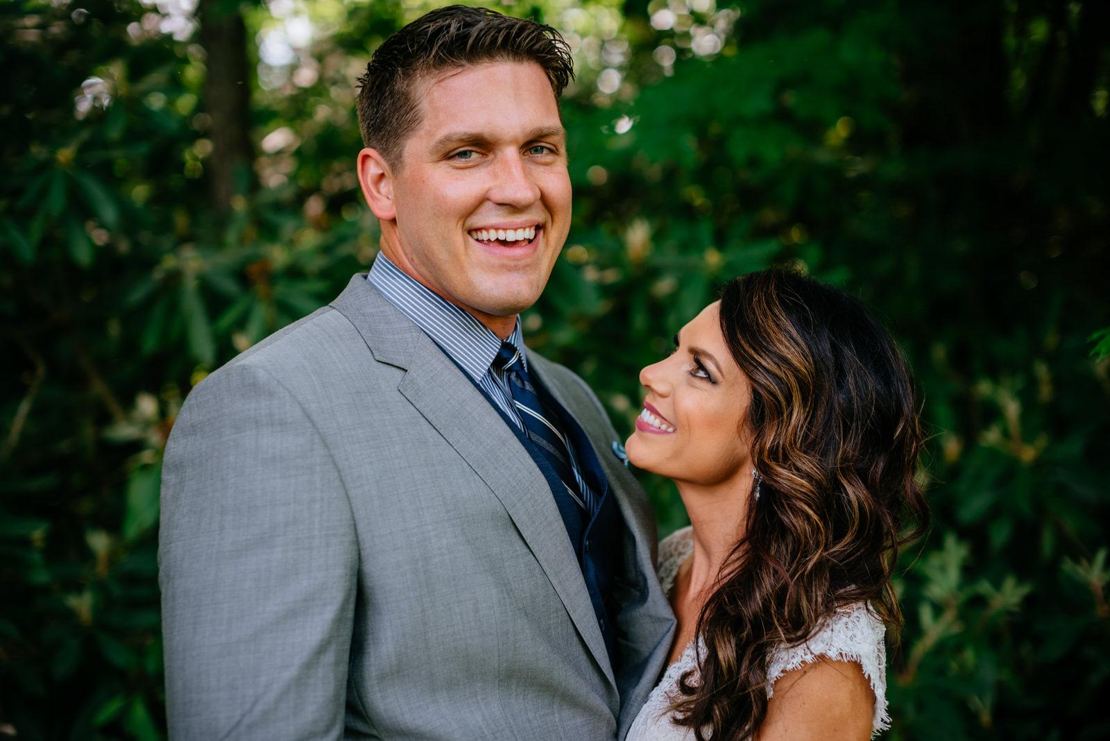 happy couple gaines estate fayetteville wv wedding