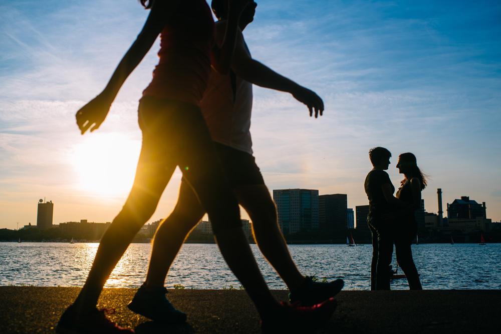 summertime boston engagement