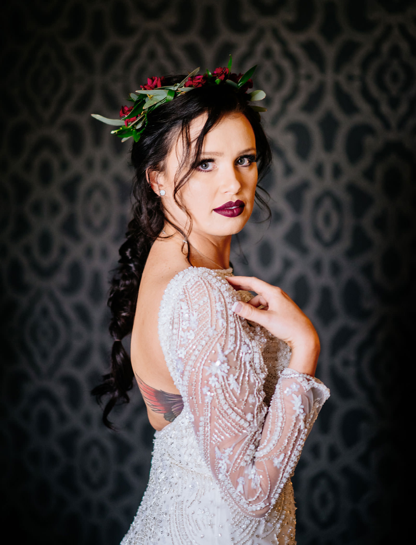 bridal portait chestnut hotel morgantown wv wedding