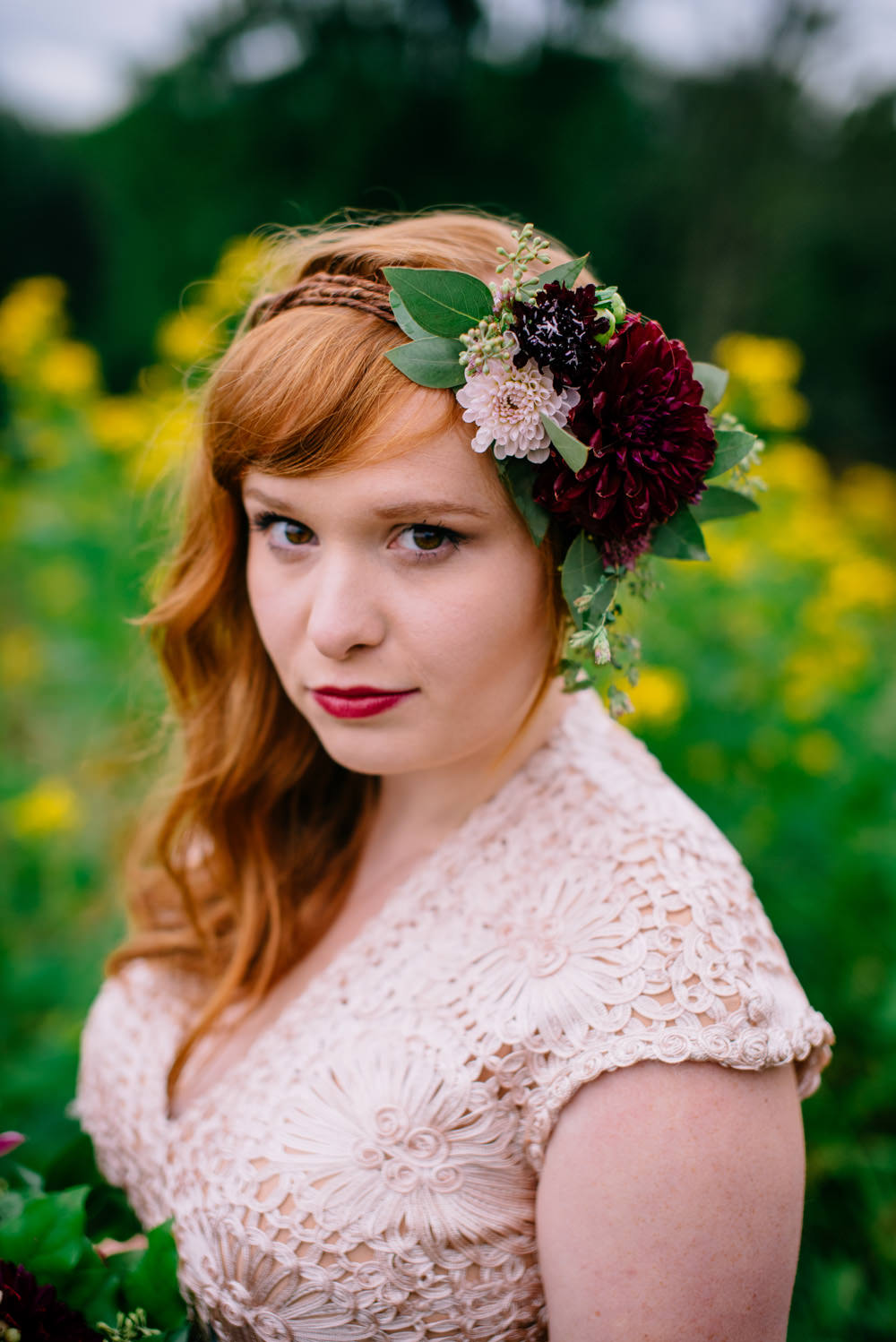 bridal portrait flower crown the oberports