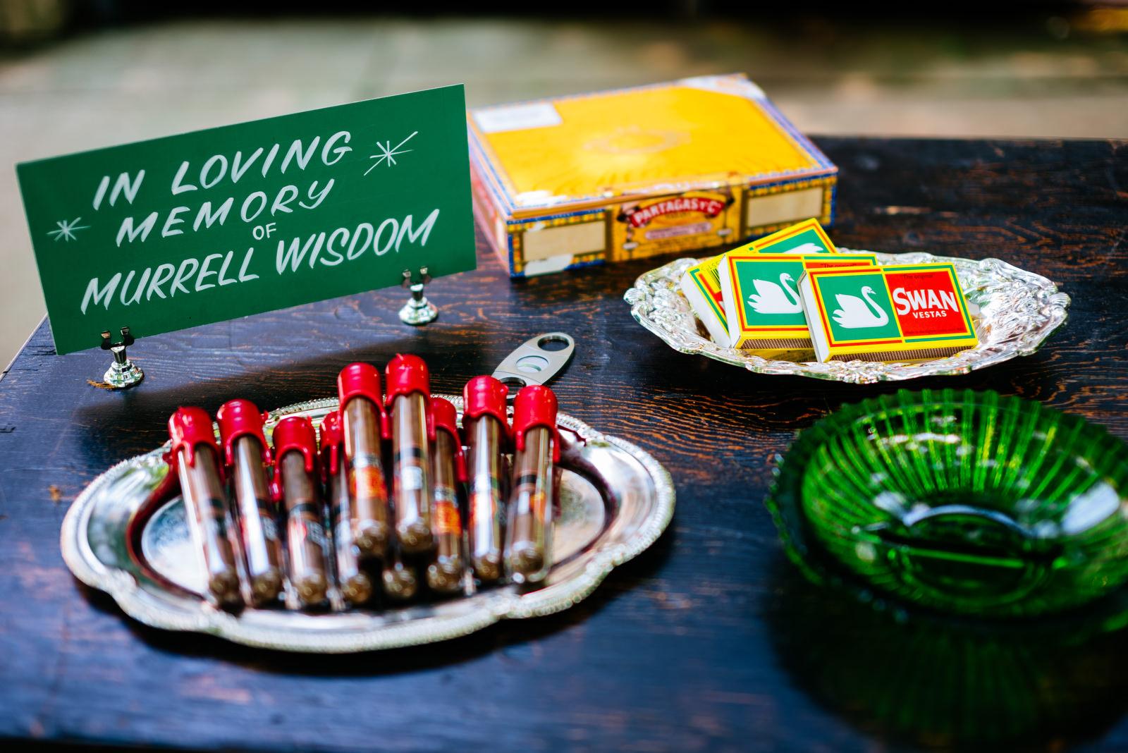 cigar table holly hill inn wedding lexington ky