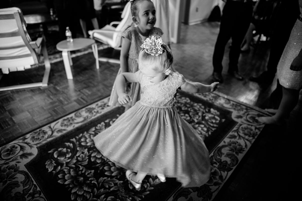 flower girl spinning wv wedding