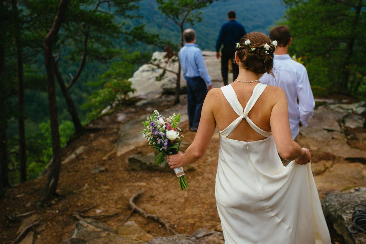 long point overlook ceremony west virginia wv
