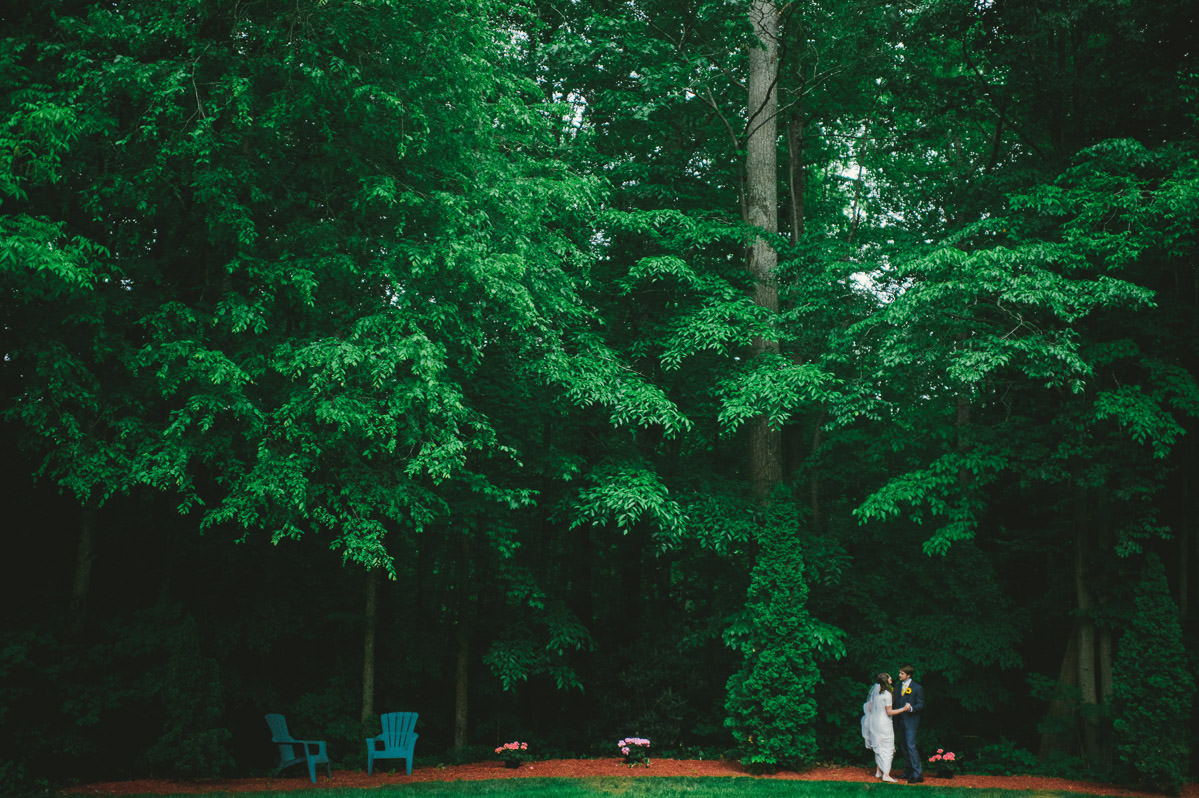 bride groom dancing in the woods backyard charleston wv wedding