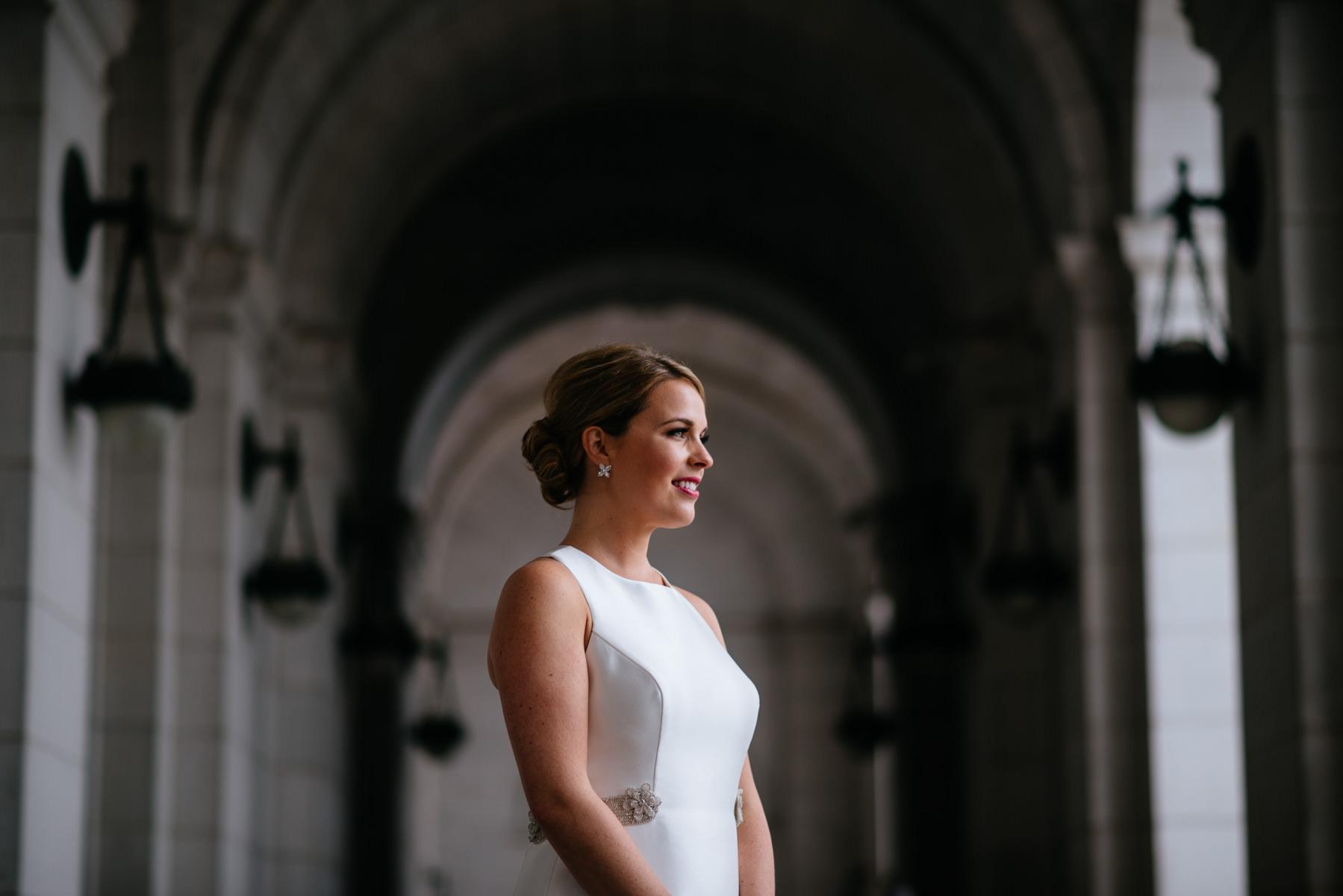 bride outside union station dc
