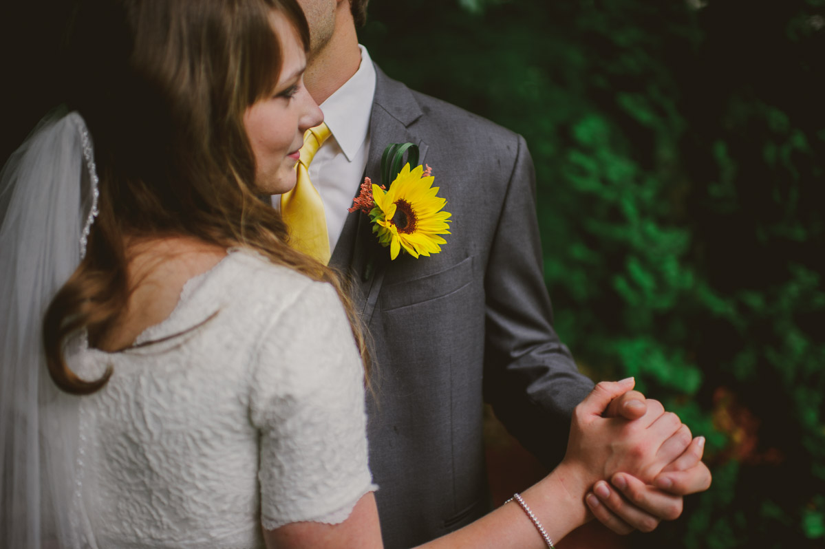 wv bride groom dancing sunflower boutonniere