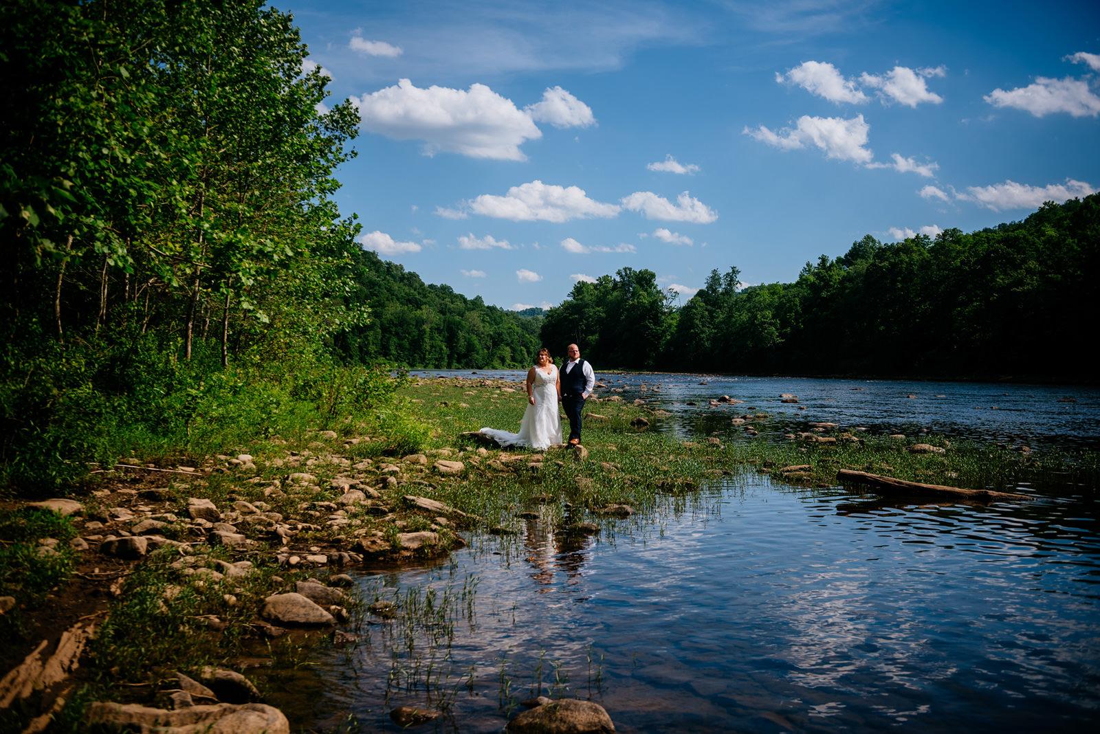 bride groom west vriginia cheat river wedding