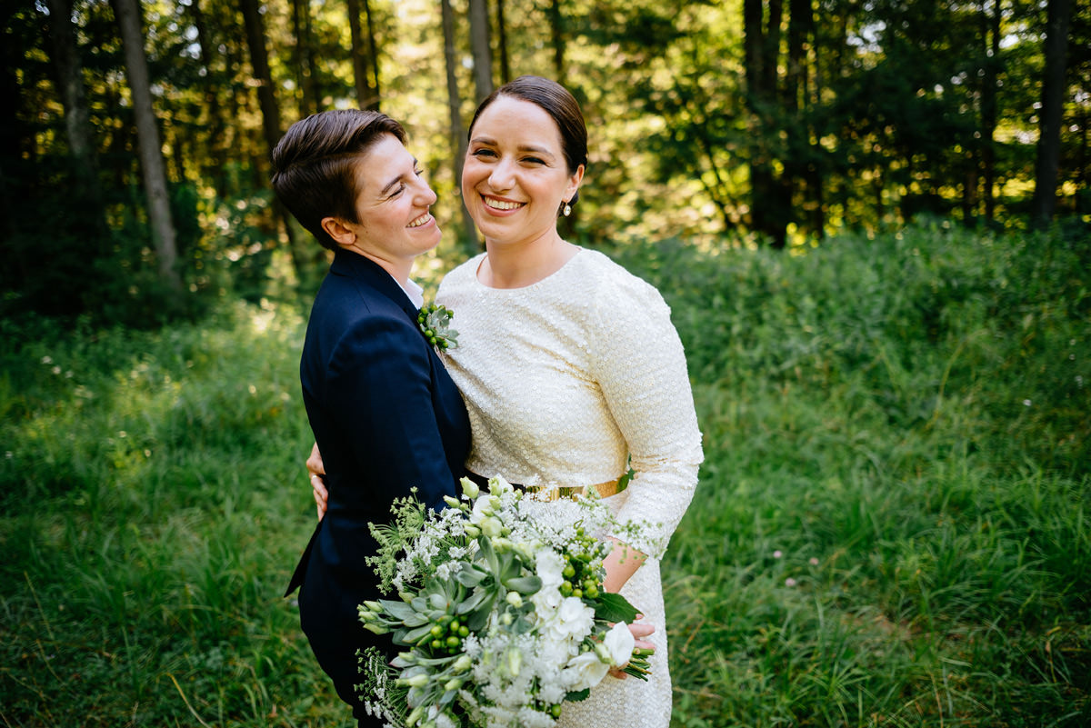 same sex lesbian wedding portrait at the confluence resort