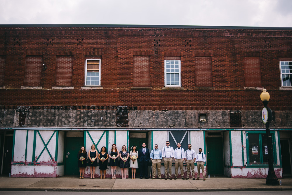 wedding party on the east end historic district of charleston wv
