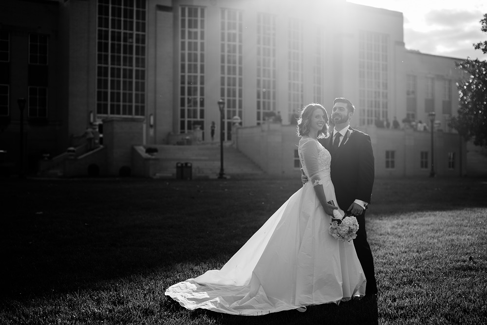 uc rotunda wedding portrait