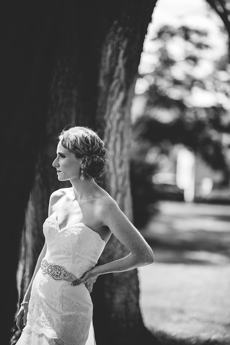 black and white vogue bridal portrait