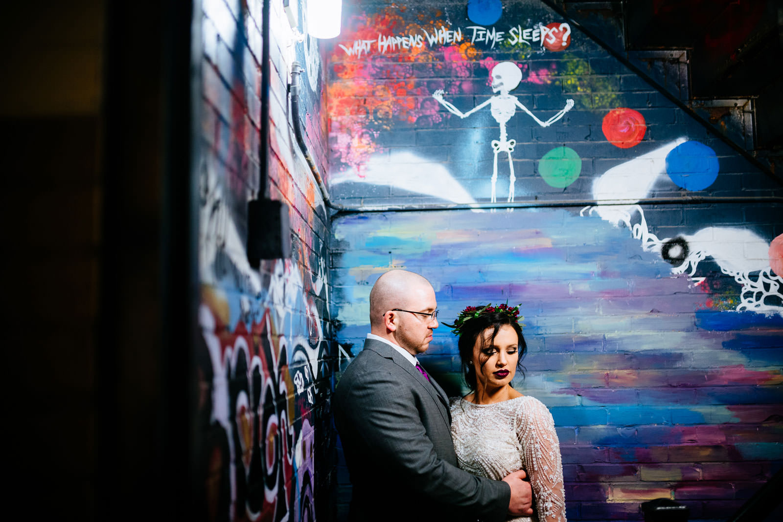 creative bride groom portrait morgantown wv wedding