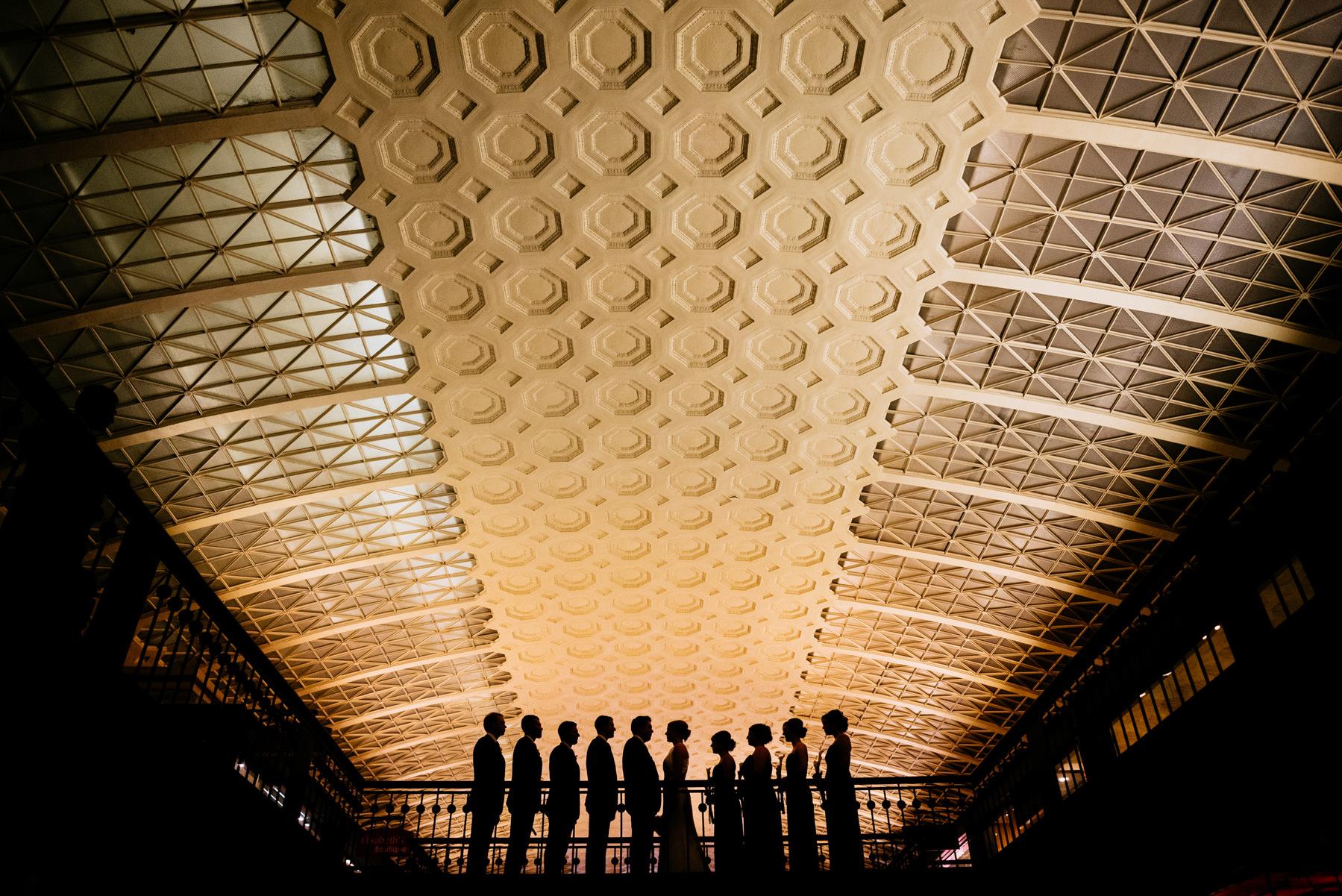 creative silhouette inside union station washington dc