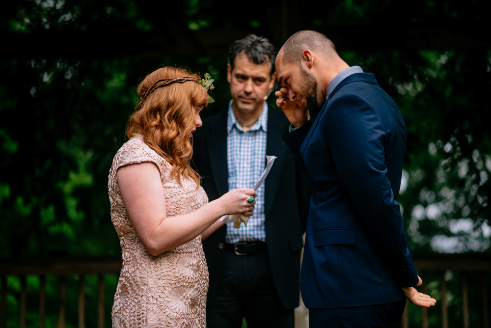 real wedding moments groom crying during vows