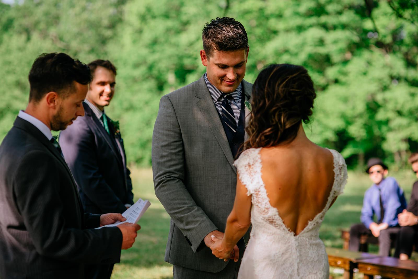 weddingceremony gaines estate fayetteville wv wedding