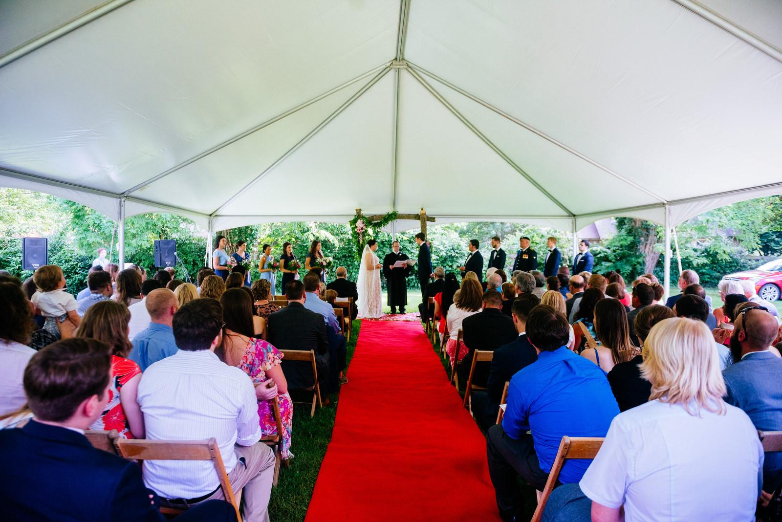 ceremony holly hill inn wedding lexington ky