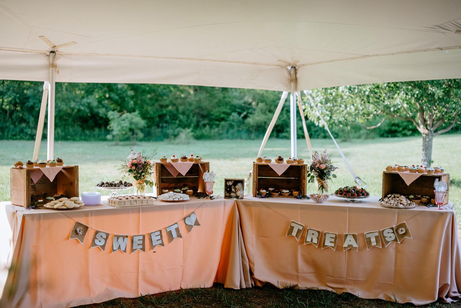 sweets desert table wedding details
