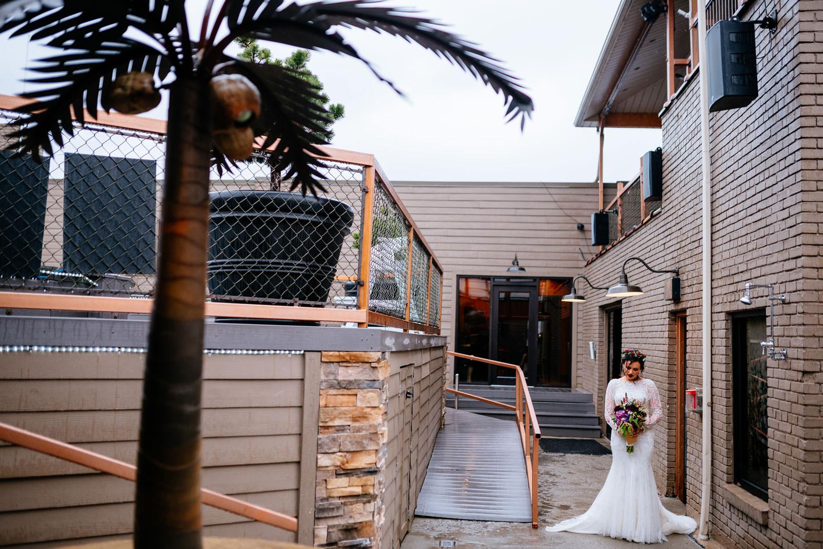 bride getting ready to walk down aisle chestnut hotel morgantown wv wedding