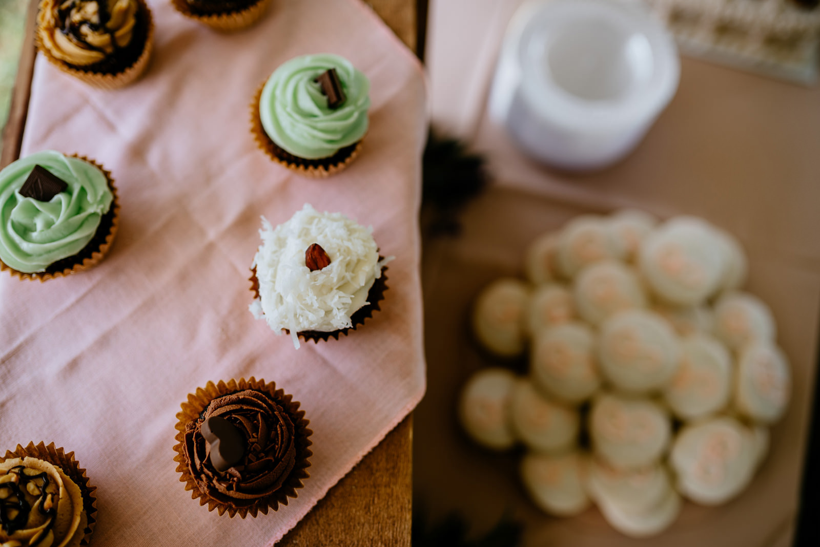 cupcakes and cookies at wv wedding