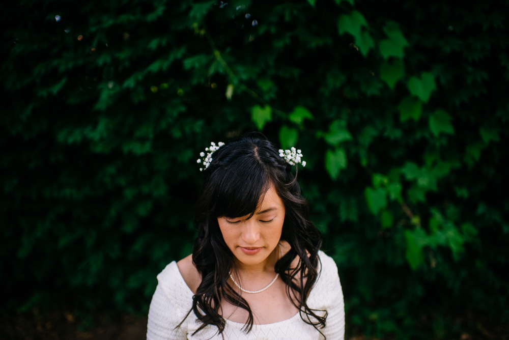 bridal portrait of west virginia bride by the oberports