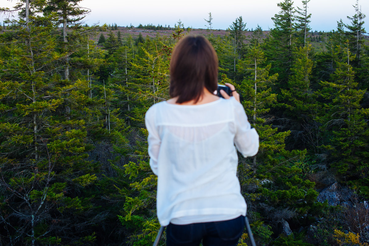 michele sons landscape photographer at dolly sods wilderness