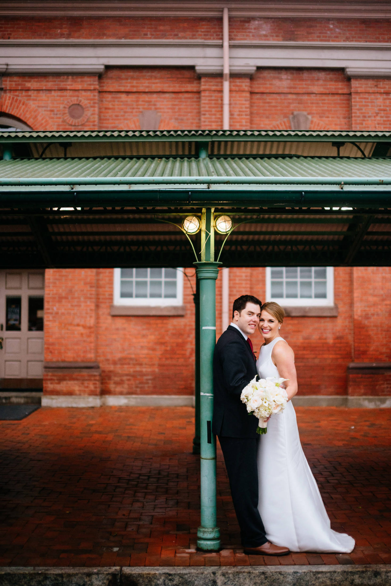 bride and groom at eastern market
