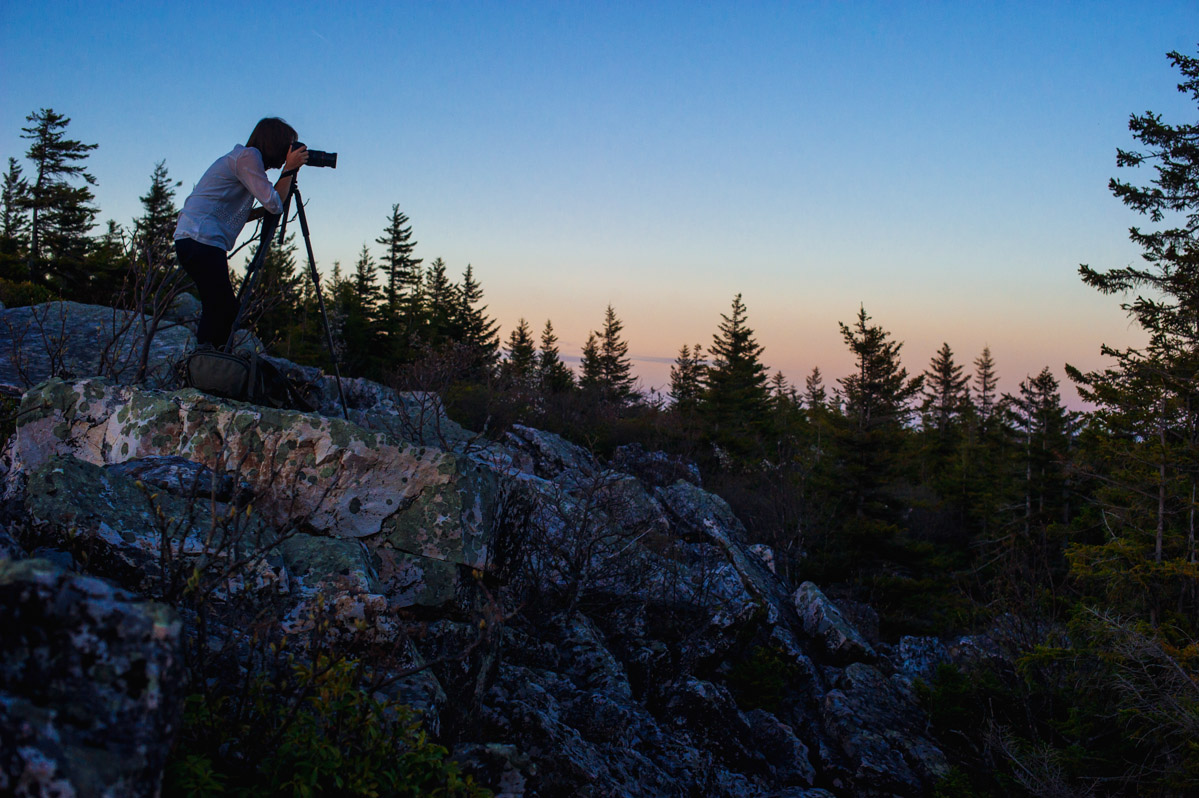taking landscape photos at dolly sods wilderness wv