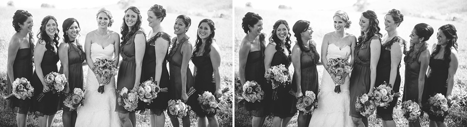 laughing bridesmaids portrait