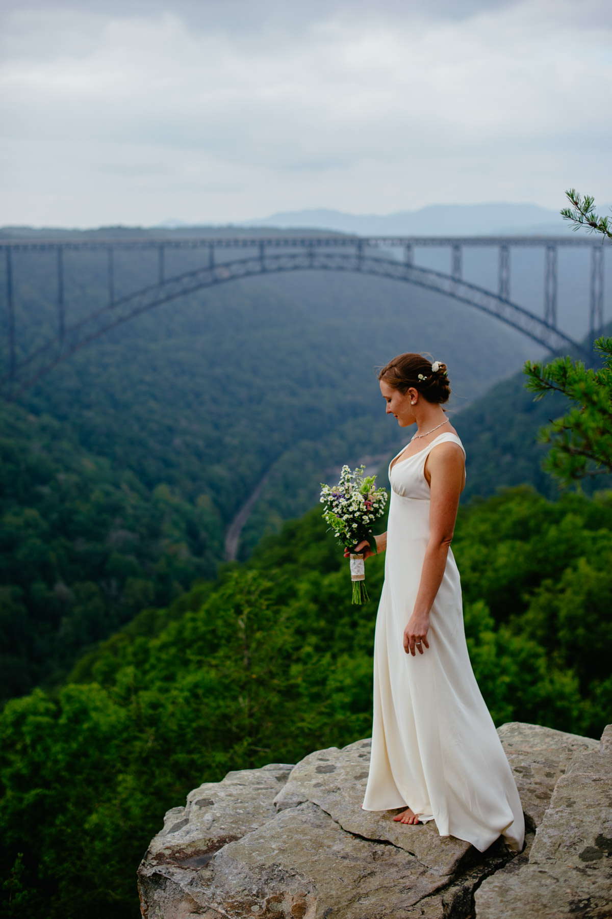 long point trail overlook photo by artistic wv wedding photographer the oberports