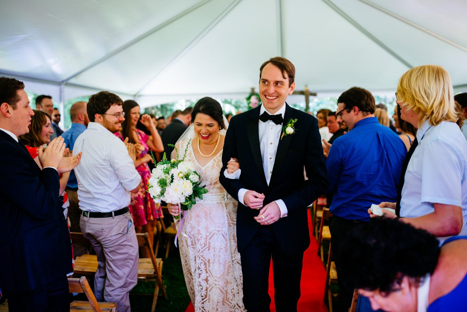 just married holly hill inn wedding lexington kentucky