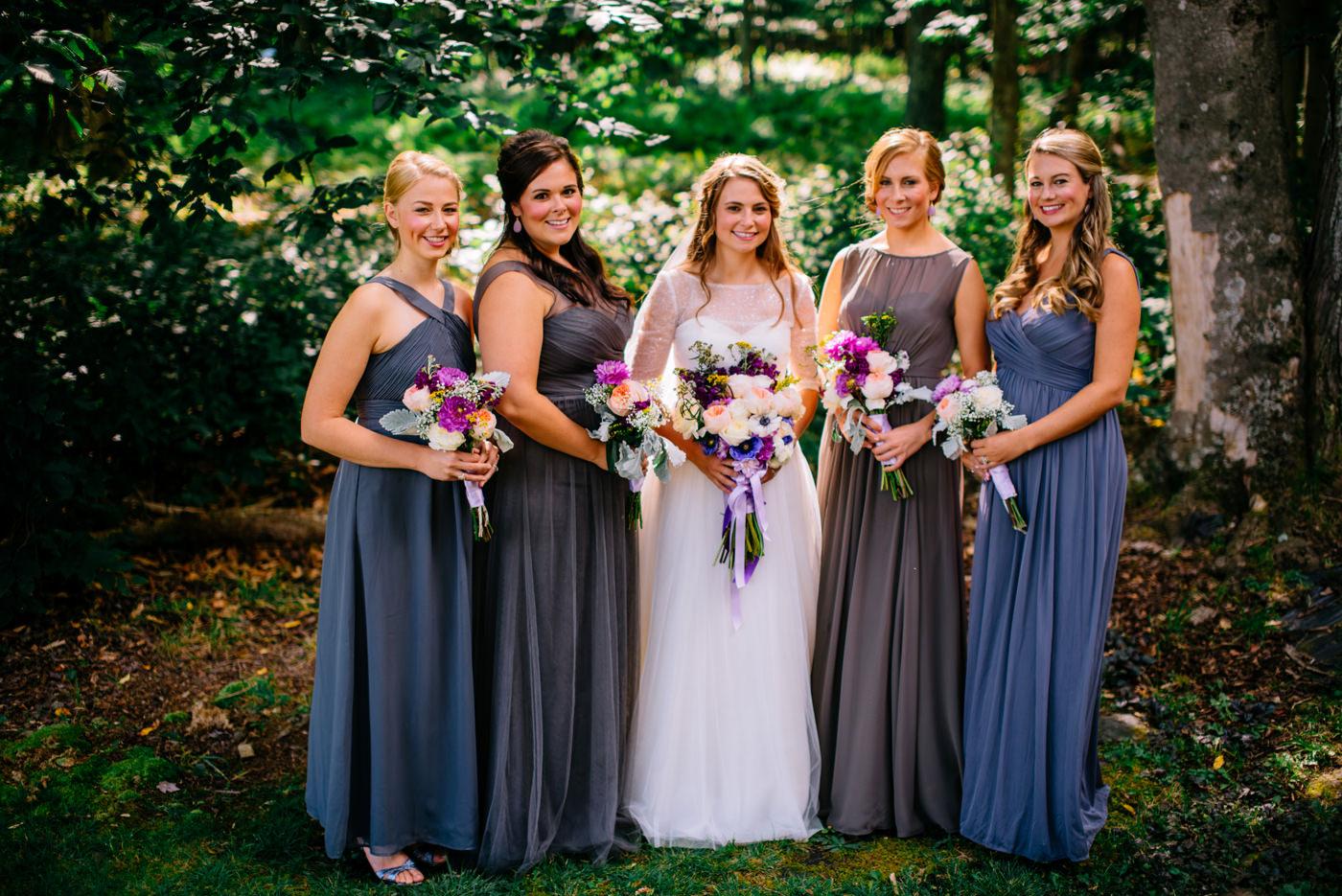 bridesmaids canaan valley wedding timberline