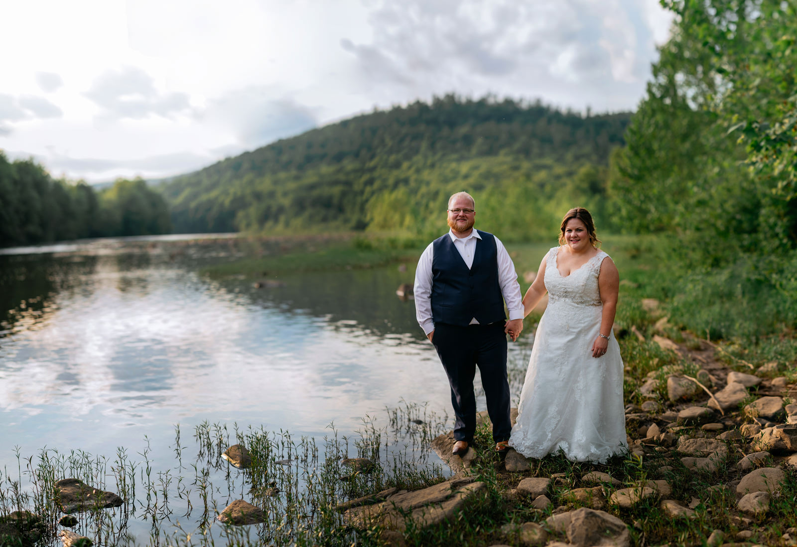 brenizer method cheat river wedding